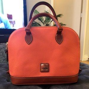 NEW Dooney & Bourke Pebble Leather Zip Zip